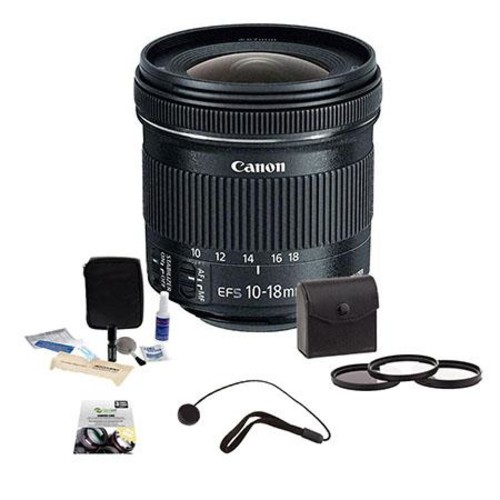 Canon EF-S 10-18mm f/4.5-5.6 IS STM Lens with Premium kit 9519B002 B