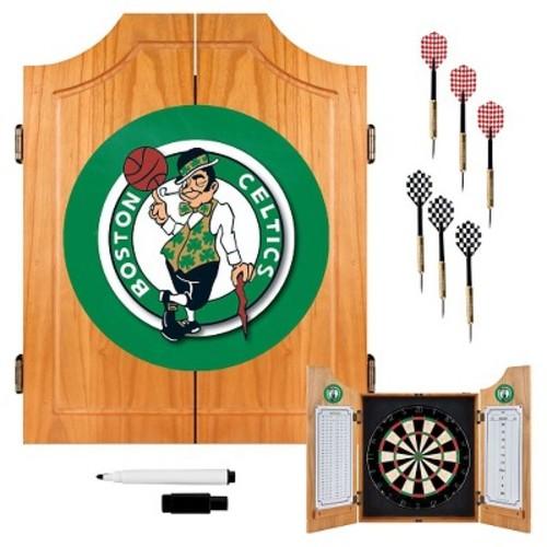 Boston Celtics NBA Wood Dart Cabinet Set