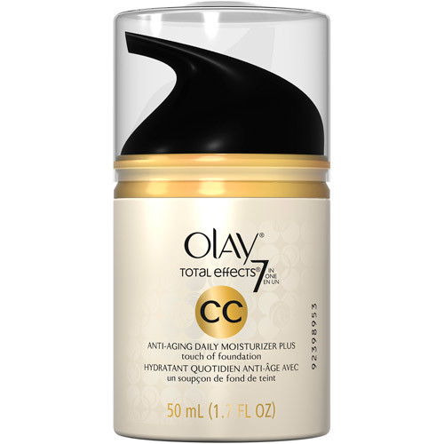 Olay CC Cream Total Effects Daily Moisturizer plus Touch of Foundation, 1.7 Fl Oz [Anti-Aging Daily Moisturizer + Touch of Foundation]