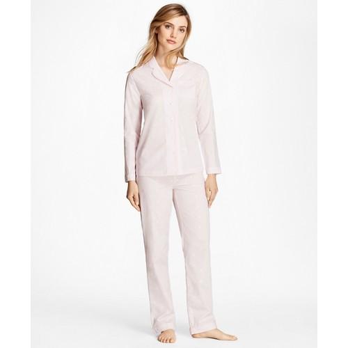 Fleece-Logo Cotton Jacquard Pajama Set