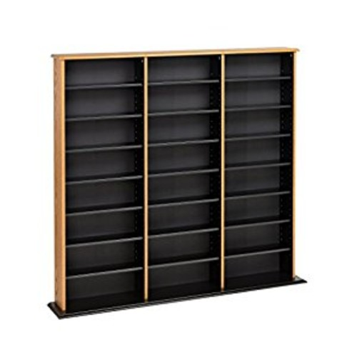 Prepac Triple Width Wall Storage Cabinet, Oak and Black [Oak and Black, Triple Width Wall ]
