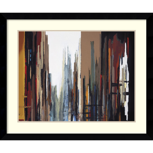 Framed Art Print 'Urban Abstract No. 165' by Gregory Lang 37 x 31-inch