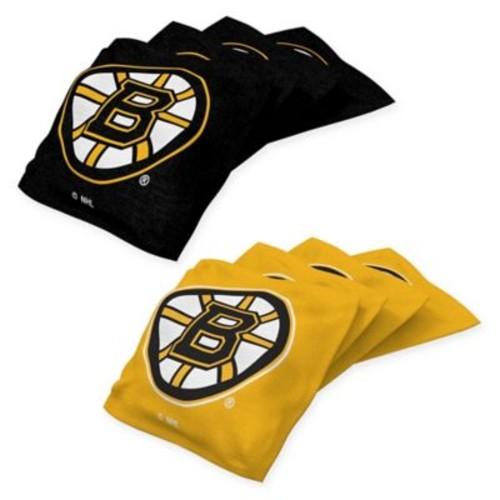 NHL Boston Bruins 16 oz. Regulation Cornhole Bean Bags (Set of 4)