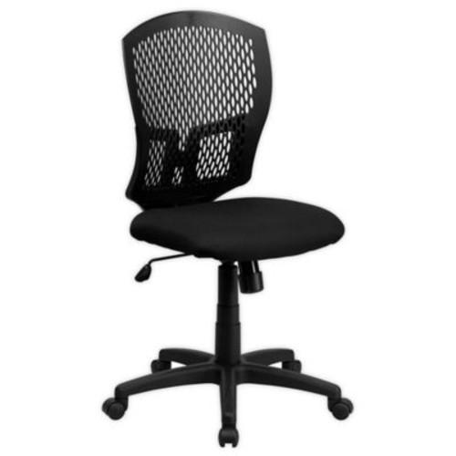 Flash Furniture Designer Mid-Back Fabric Task Chair in Black