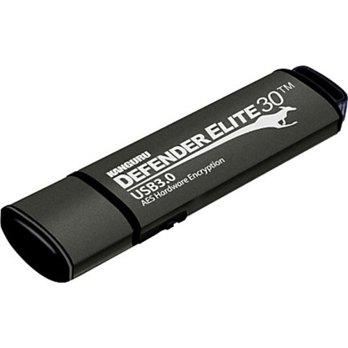 Kanguru Defender Elite30, Hardware Encrypted, Secure, SuperSpeed USB 3.0 Flash Drive, 32G