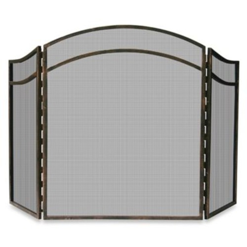 UniFlame 3-Fold Antique Rust Fireplace Screen