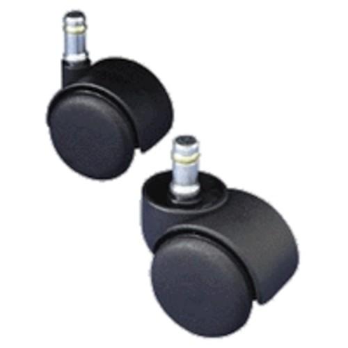 Master Caster Safety Series Casters, Soft Wheel, Standard Neck, Stem K For Metal Base, Pack Of 5