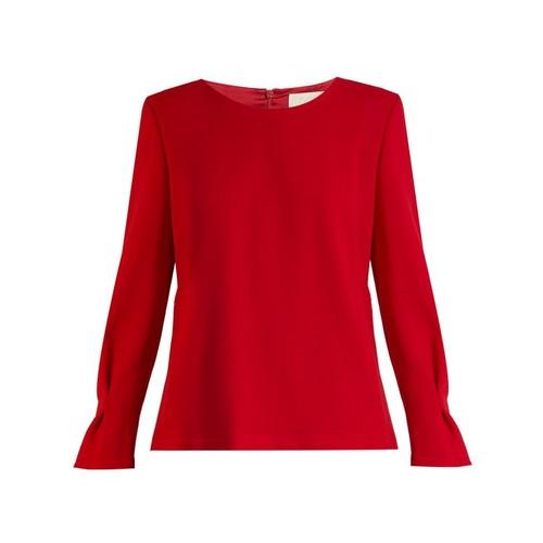 Elsie wool-crepe blouse