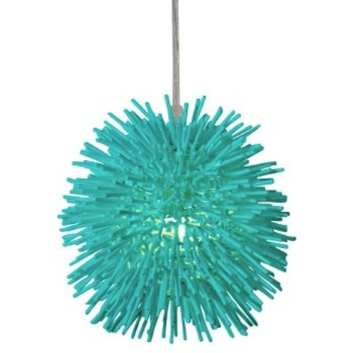 Varaluz 169M01SAQ Urchin Aqua Velvet One Light Uber Mini Pendant