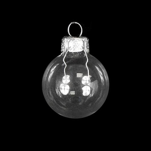 Shiny Clear Glass Ball Christmas Ornament 7