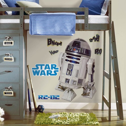 RoomMates 5 in. x 19 in. Star Wars Classic R2D2 Peel and Stick Giant Wall Decal (9-Piece)