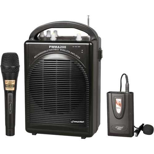 Pyle PWMA200 - Portable PA Speaker & Microphone System Kit | FM Stereo Radio