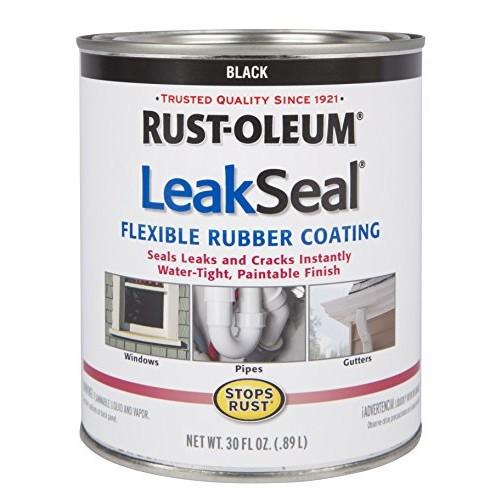 Rust-Oleum 271791 Stop Rust Leak Seal Flexible Rubber Coating Sealant, Black: Home Improvement [Black, 30 oz]