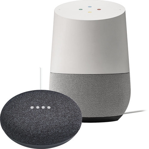 Google - Home & Google Home Mini in Charcoal Package