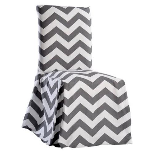 Chevron Dining Chair Slipcover