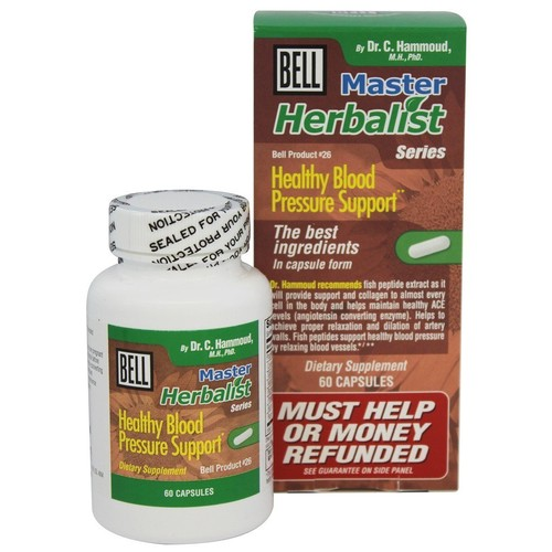 Bell Lifestyle - Master Herbalist Series #26 Healthy Blood Pressure Support - 60 Capsules