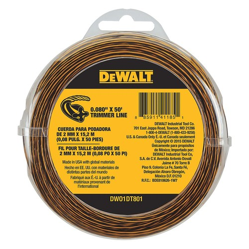 String Trimmer Line,0.080 in. dia,50 ft.