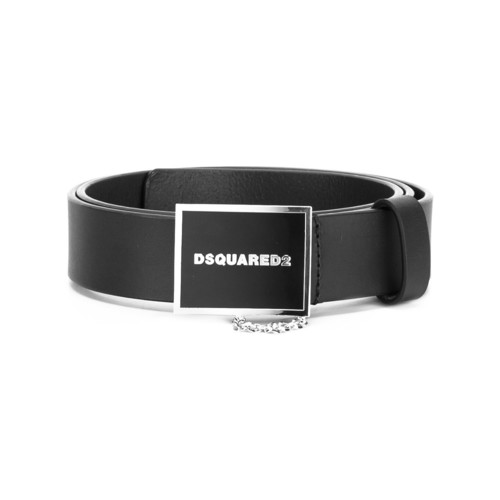 DSQUARED2 Squared Logo Buckle Belt