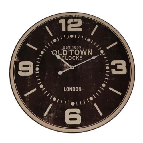Decorative Clock Distressed Black/Tan - VIP Home & Garden