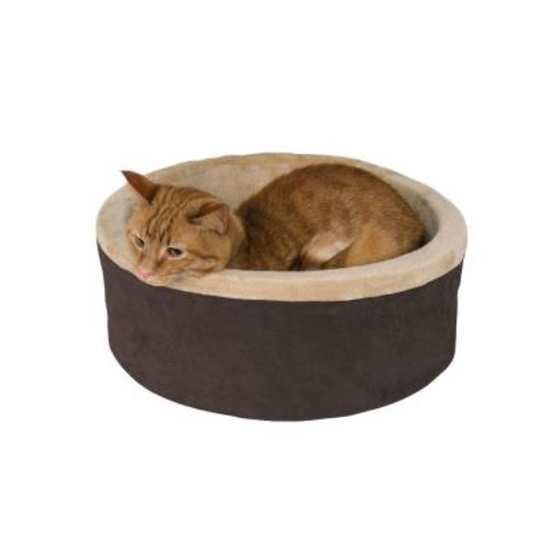 K&H Pet Products Thermo-Kitty Small Mocha Heated Cat Bed