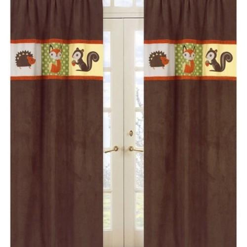 Sweet Jojo Designs Forest Friends Window Panels