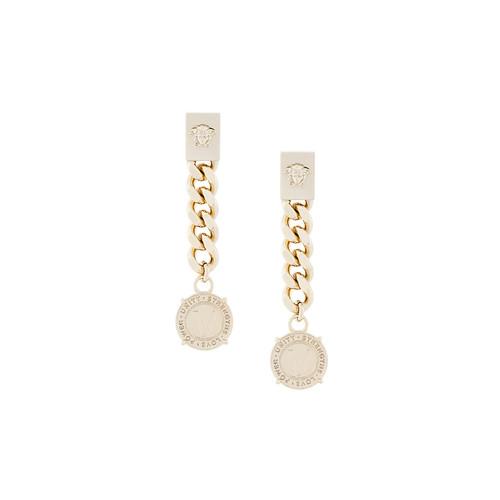 chain Medusa logo earrings