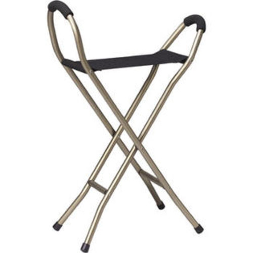 Drive Medical Deluxe Folding Lightweight Cane With Sling Seat - RTL10360