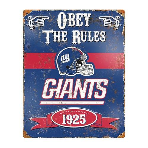 York Giants Embossed Metal Sign