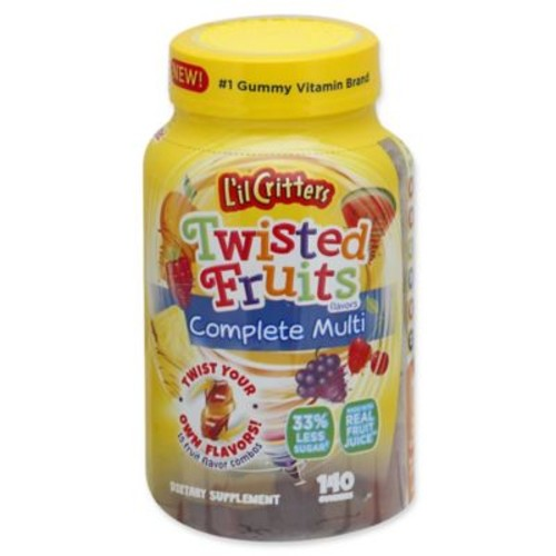 L'il Critters Twisted Fruits 140-Count Complete Multi Gummies