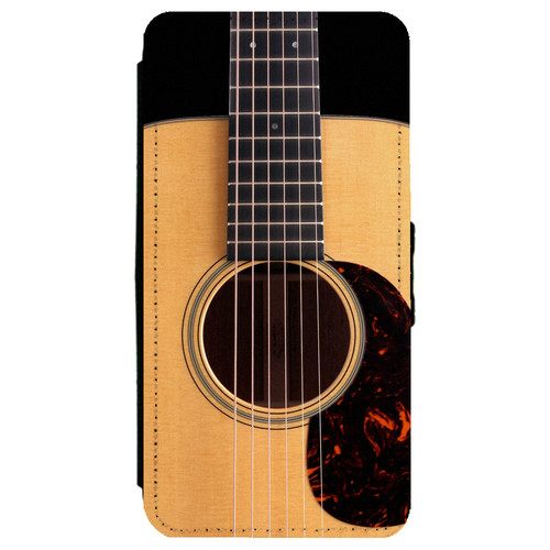 Classic Guitar Six String Acoustic Open Body Samsung Galaxy S7 Edge Leather Flip Phone Case