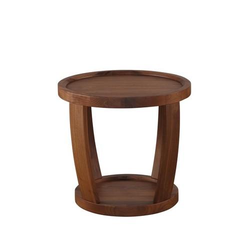 Aurelle Home Coffee, Console, Sofa & End Tables Aurelle Home American Walnut Side Table