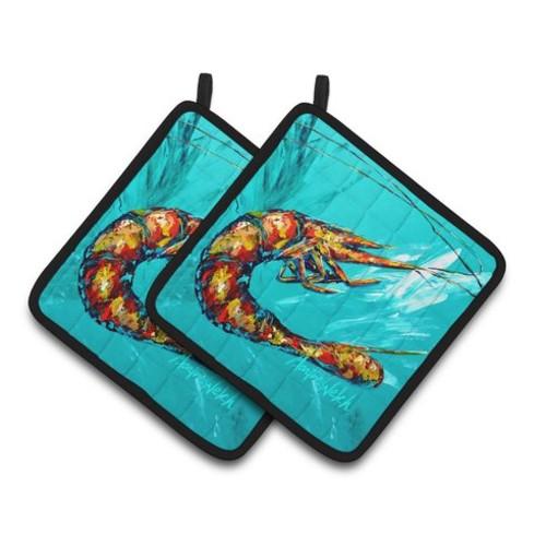 Shrimp Splish Splash Potholder