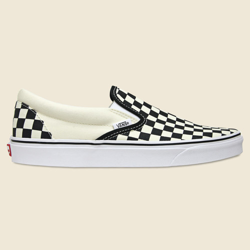 Checkerboard Slip On - Black/White