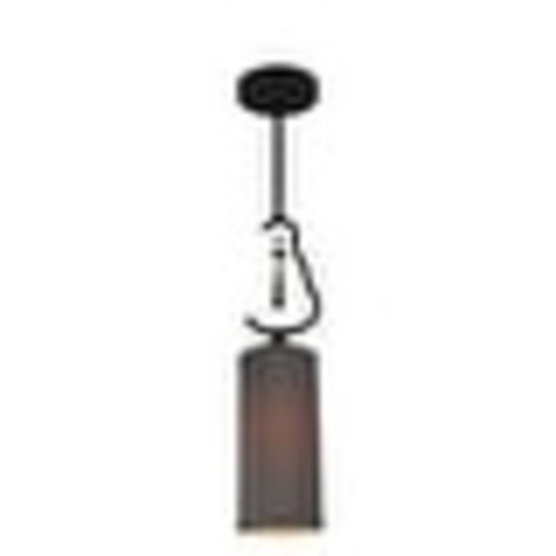 Woodbridge Lighting 14223-S10402 1 Light Single Mini Pendant with Gray Fabric Shade and Crystal Accent from the Haley Collection