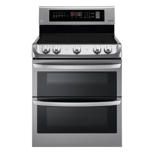 LG Electronics 7.3 cu. ft. Double Oven Electric Range with ProBake Convection Oven and EasyClean in Stainless Steel