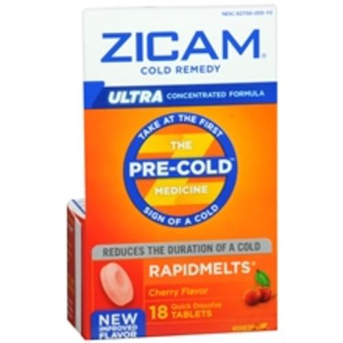 Zicam Ultra Cold Remedy RapidMelts Quick Dissolve Tablets Cherry