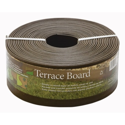 Master Mark Terrace Board 4 in. H x 40 ft. L Brown Plastic Lawn Edging(94340)