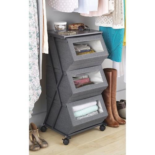 Stackable Window Box Cart (Gray)