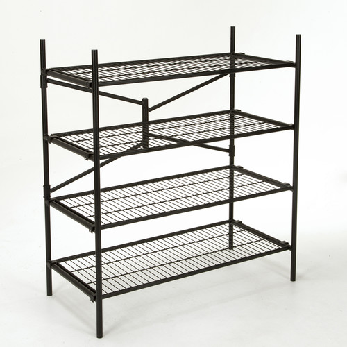 Cosco Home and Office Products 4' Black Folding Storage Rack