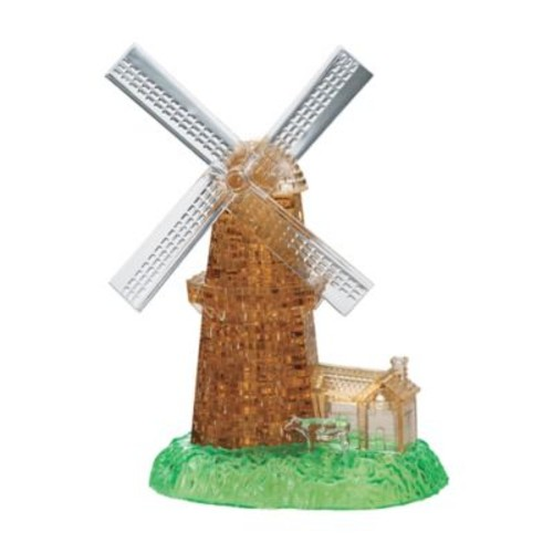 Puzzled BePuzzled Windmill 64-Piece Original 3D Crystal Puzzle