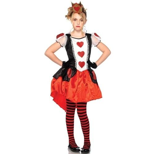 Leg Avenue Wonderland Queen Child Costume - Black/Red