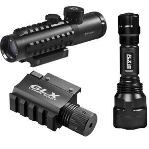 Barska Barks 4x30 IR Electro Sight-Grn Laser/210 Lum LED Flashlight