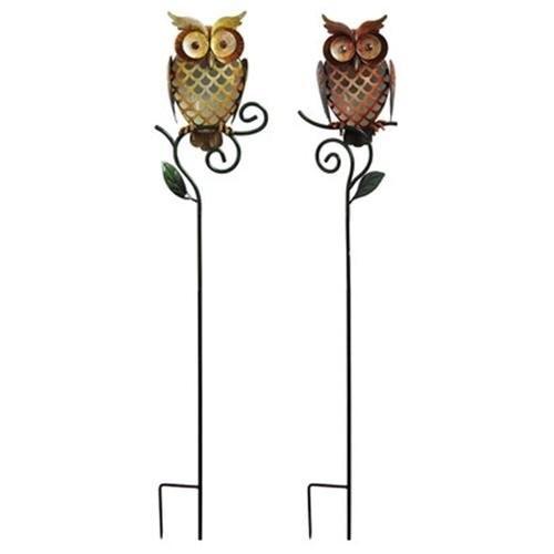 Owl Garden Stake, Yellow