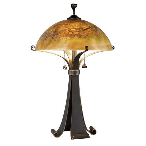 Kenroy Home Santa Fe 28 in. Chocolate Caramel Table Lamp