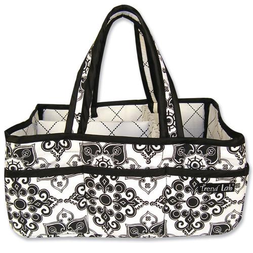 Trend Lab Storage Caddy Versailles Black & White