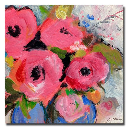 Trademark Global Sheila Golden 'Bouquet in Pink' Canvas Art [Overall Dimensions : 35x35]