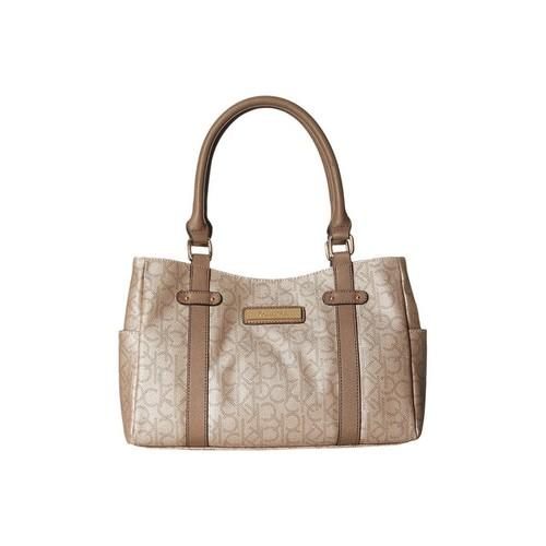 Calvin Klein Hudson Champagne/Metallic Taupe/Dark Taupe Satchel Handbag