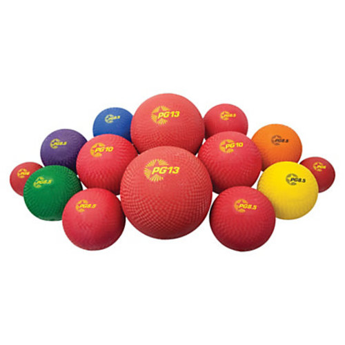 Champion Sport s Multi-Size Playground Ball Set - Assorted, Blue, Red - Nylon