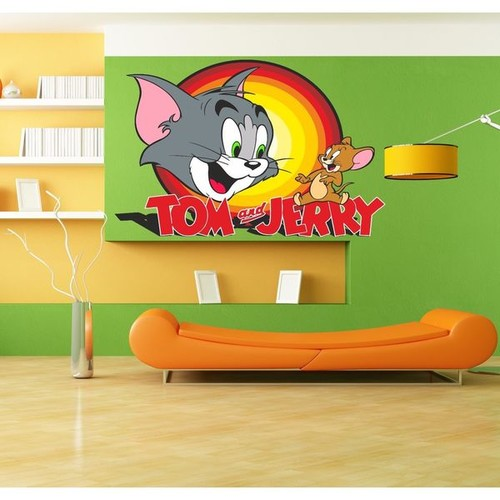 Tom & Jerry Full Color Decal, Full color sticker, colored Tom & Jerry Sticker Decal size 48x57