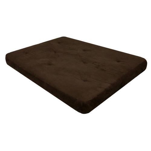 Dorel 6 inch Coil Futon Mattress, with CertiPUR-US certified foam Chocolate Brown
